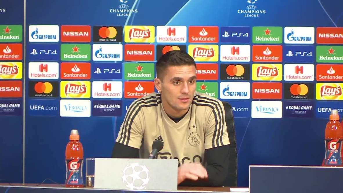 """Países Bajos: Ajax tiene que """"centrarse y disfrutar del partido"""" contra el Real Madrid - Tadic"""