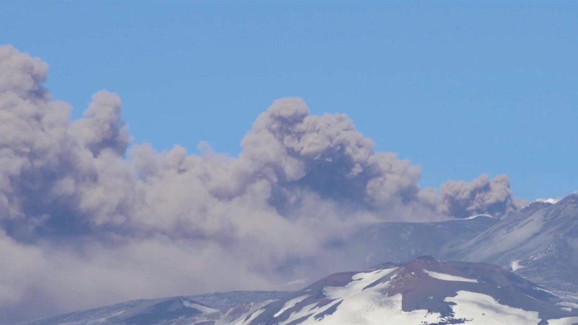 Italy: Mount Etna spews ash, disrupting flights in Catania