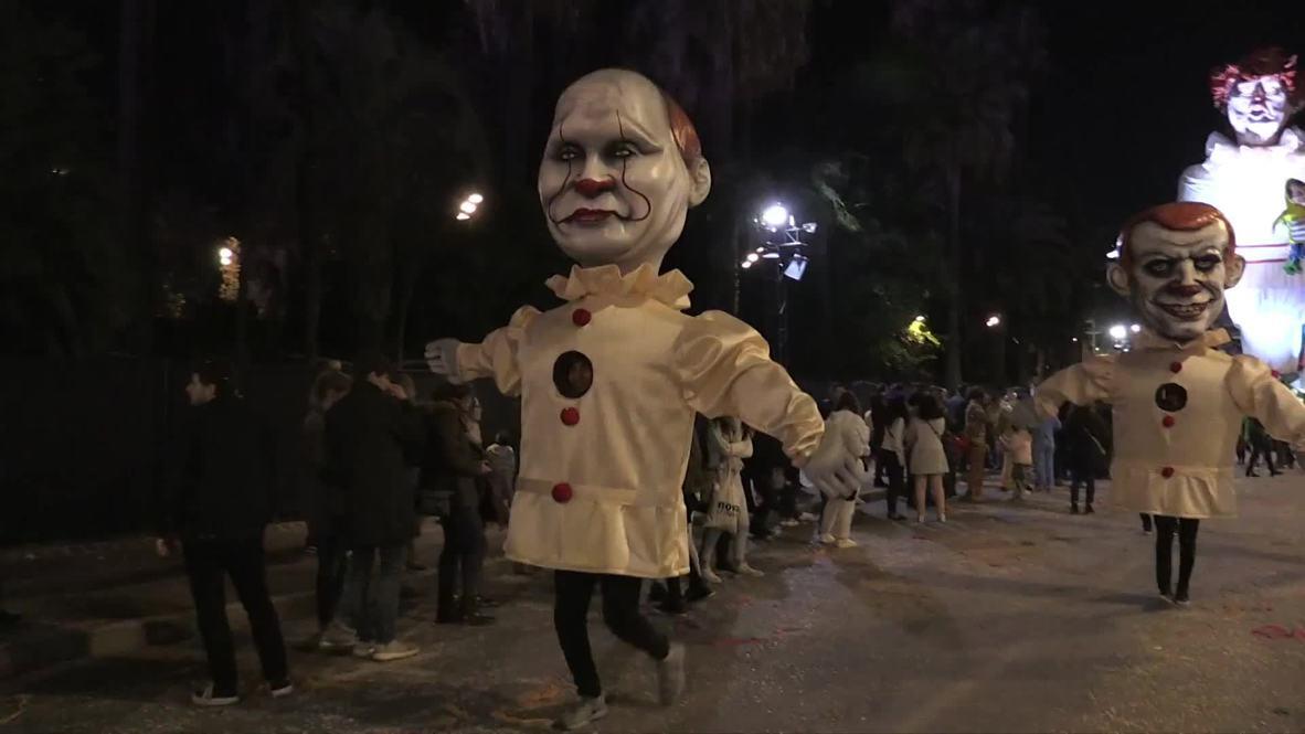 Francia: Globos gigantes de Trump, Putin y Merkel presentes en el Carnaval de Niza