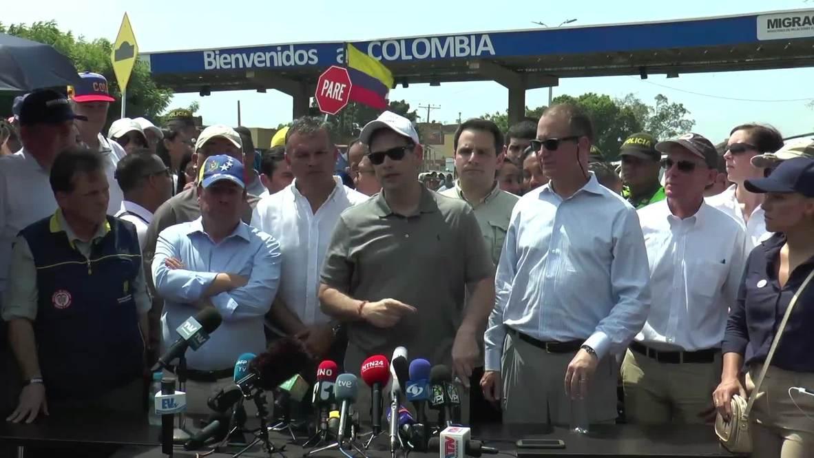 Colombia: 'Maduro's regime is not a government, it's a mafia' - US Republican Rubio