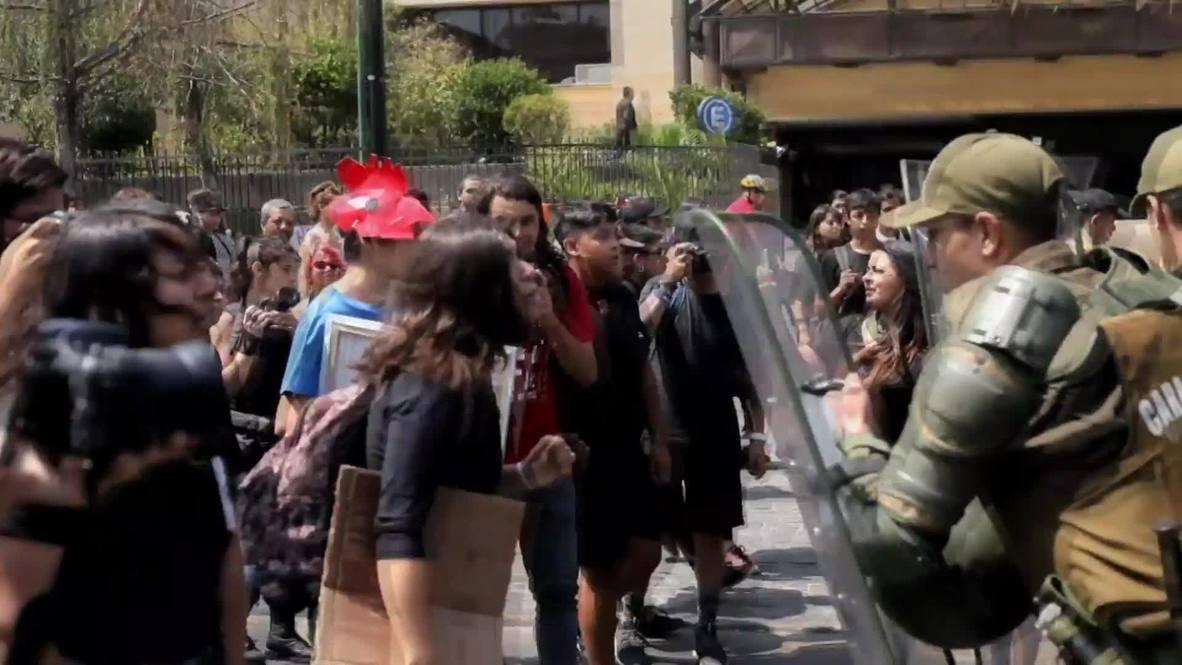 Chile: Veganos y activistas se enfrentan con la policía en Santiago