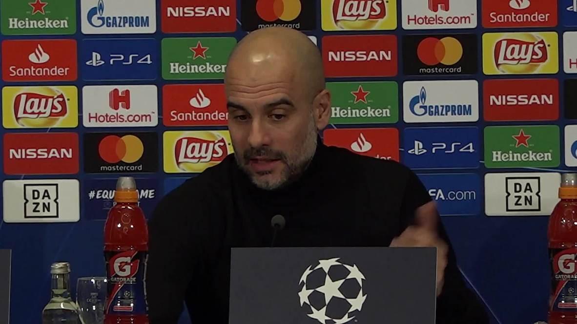"""Alemania: El partido entre el Manchester City y el Schalke será """"muy difícil"""" - Guardiola"""