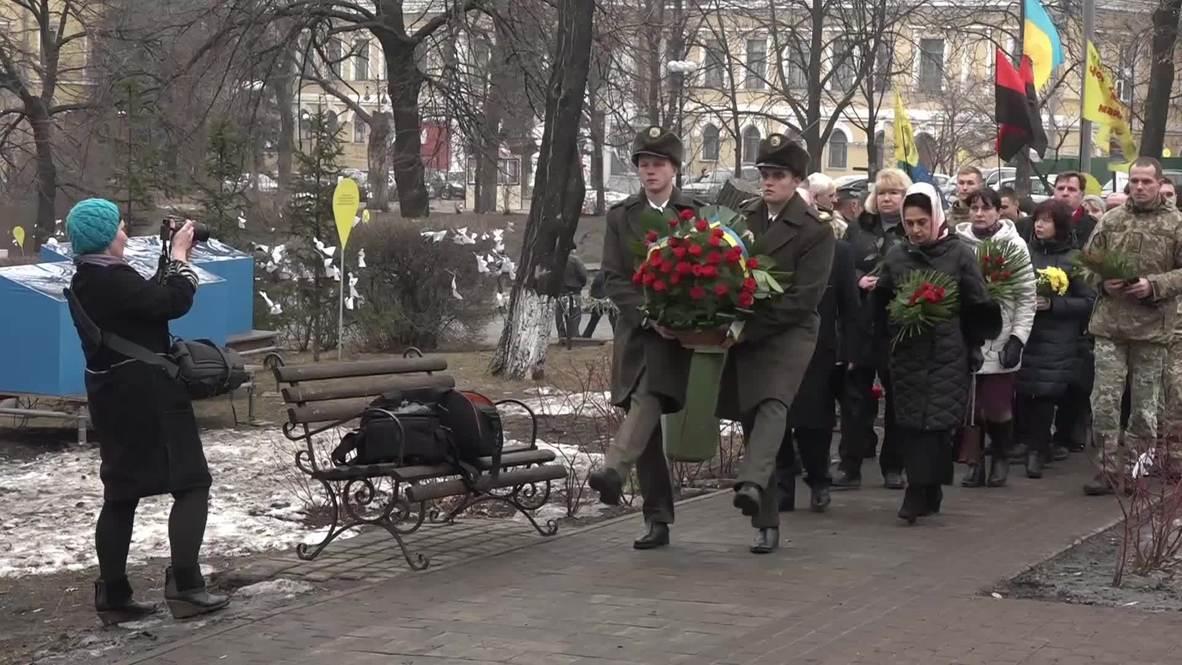 Ucrania: Rinden homenaje a los manifestantes fallecidos cinco años después de las protestas de Maidan