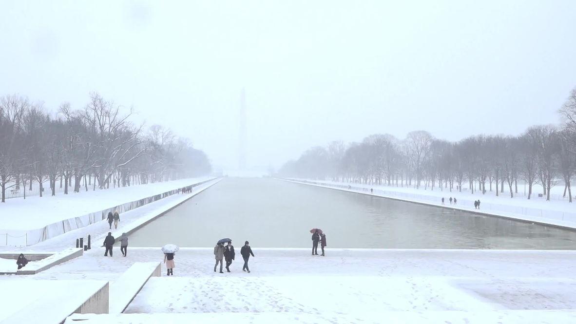 EE.UU.: Escuelas y oficinas del gobierno cerradas por tormenta de nieve en Washington D.C.