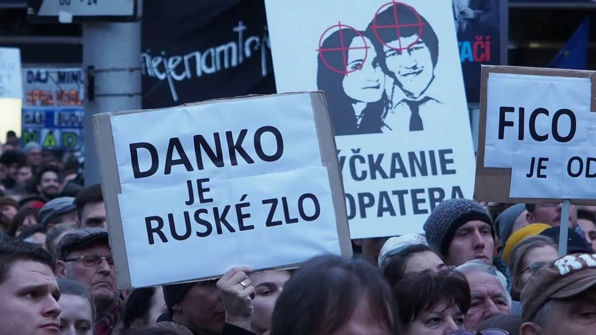 Slovakia: Thousands rally to commemorate murdered journalist in Bratislava