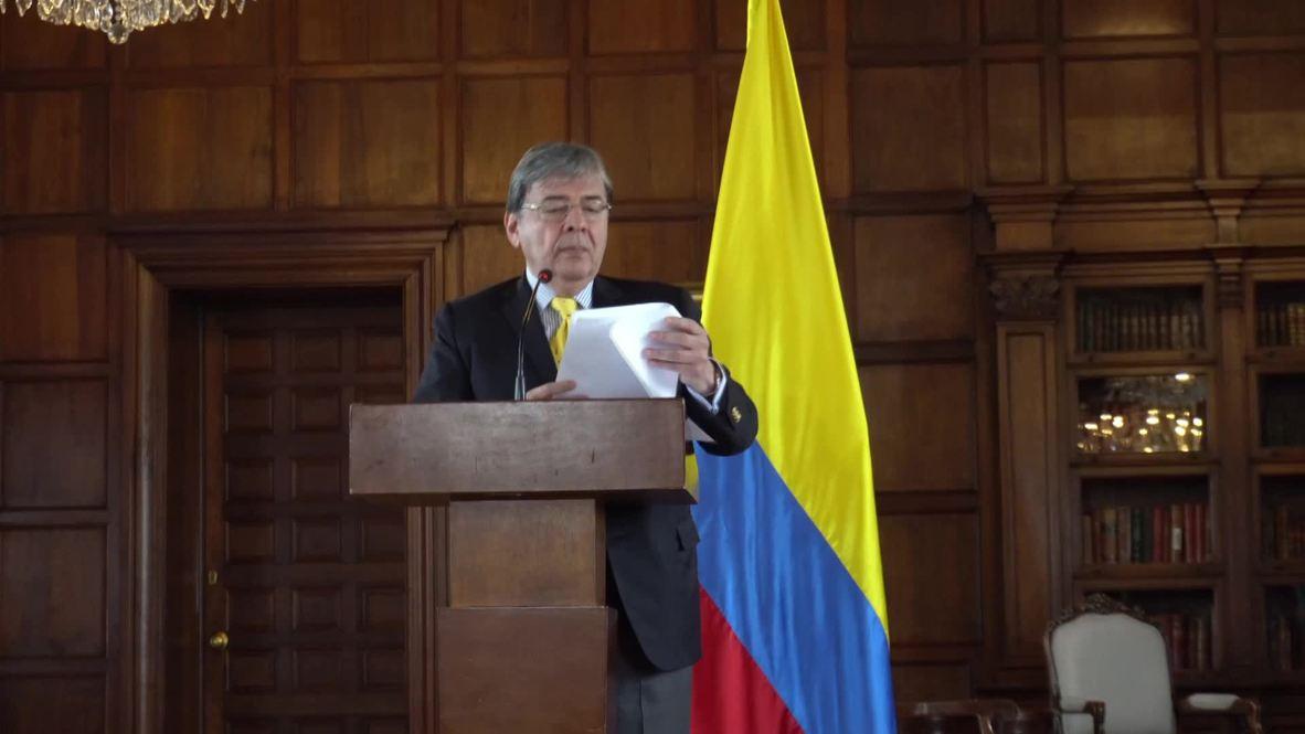 """Colombia: """"Militares desplegados en la frontera para garantizar la seguridad en los próximos días - Ministro de Relaciones Exteriores de Colombia"""