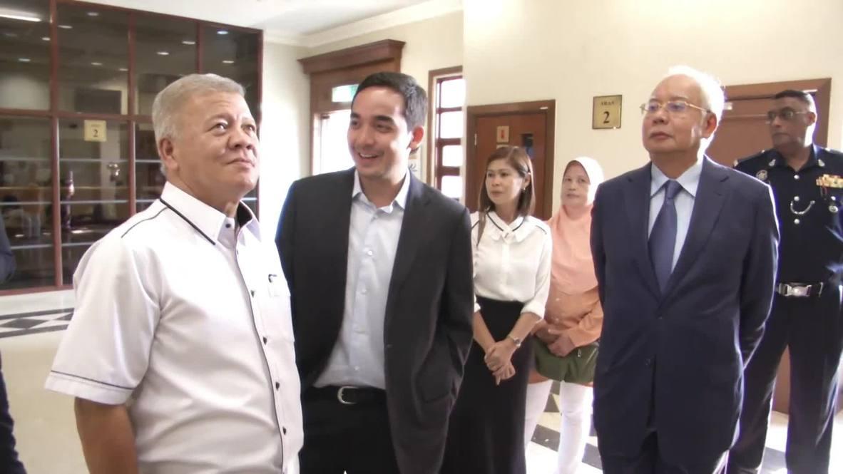 Malasia: Ex primer ministro Razak llega al Tribunal Supremo acusado de blanqueo de dinero