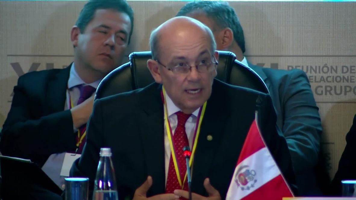 Colombia: Use of force 'not a solution' to Venezuela crisis - Peru's Hugo de Zela