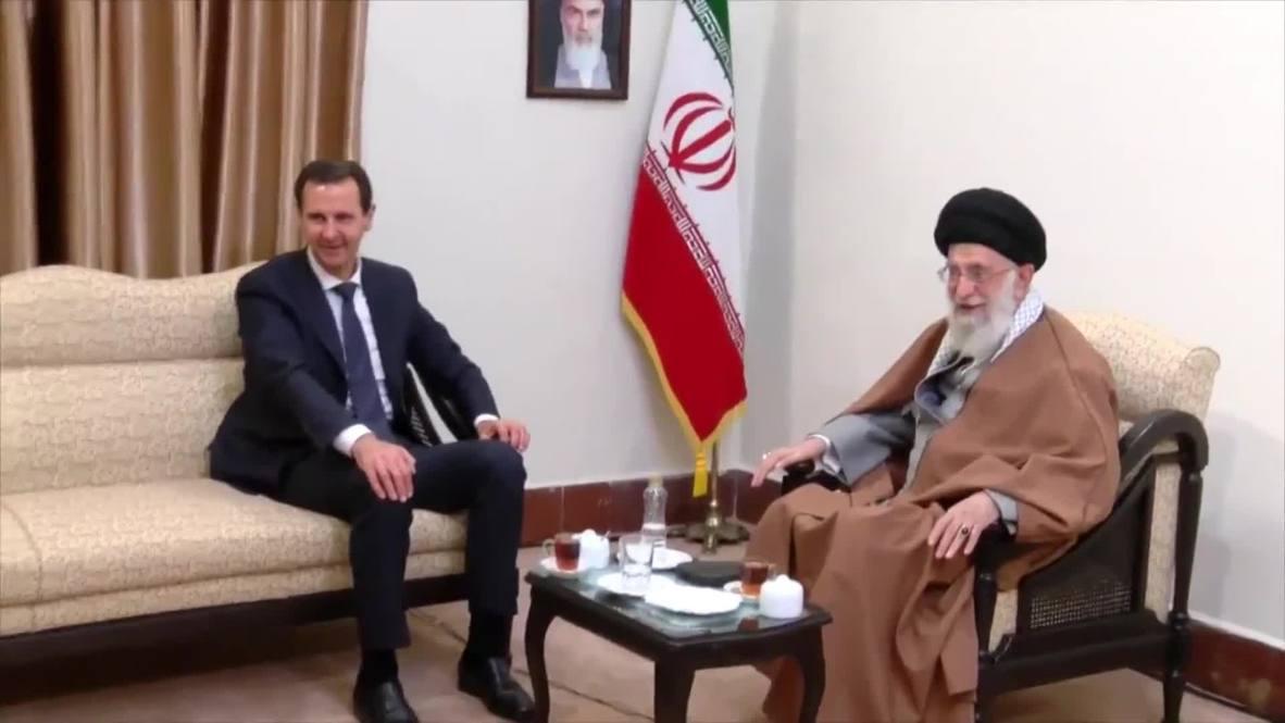 Iran: Assad meets with Khamenei in Tehran