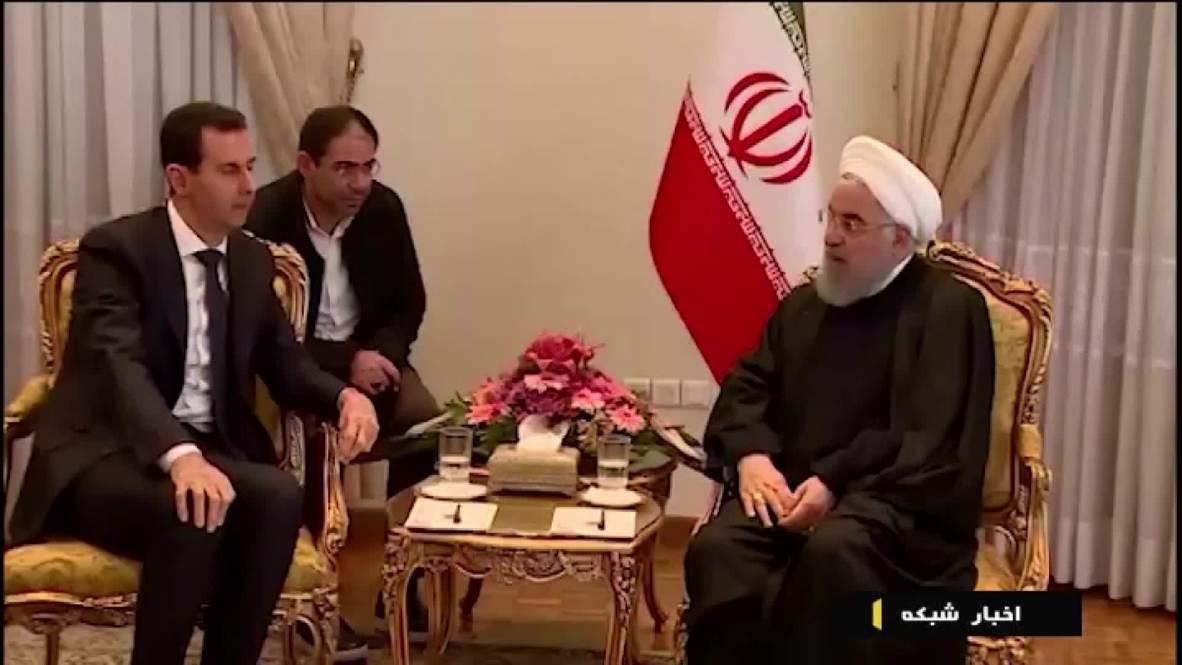 Irán: Assad y Rouhani se reúnen en Teherán
