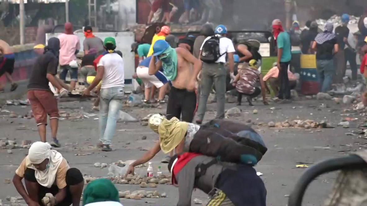 Колумбия: Протестующие против национальной гвардии Венесуэлы