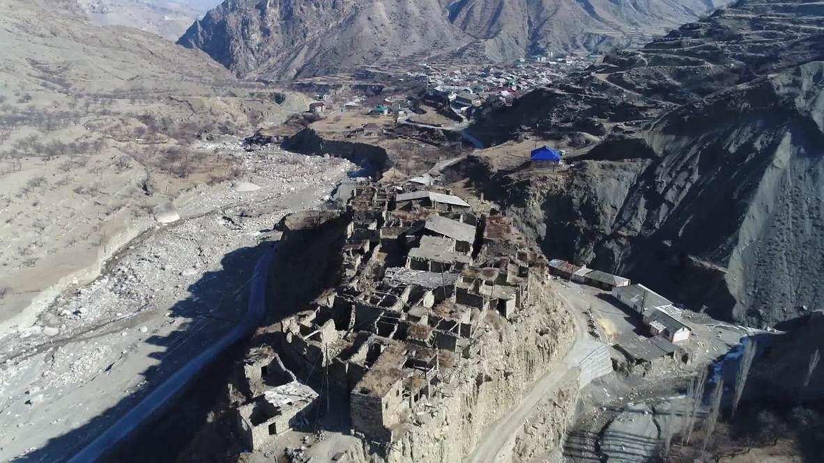 Rusia: Drone captura el antiguo pueblo de montaña Avar en Daguestán