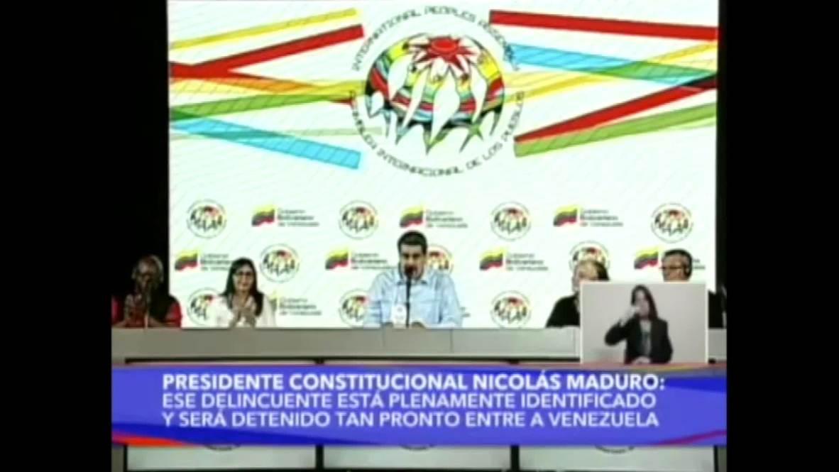 Venezuela: Maduro culpa al presidente colombiano por la violencia en la frontera