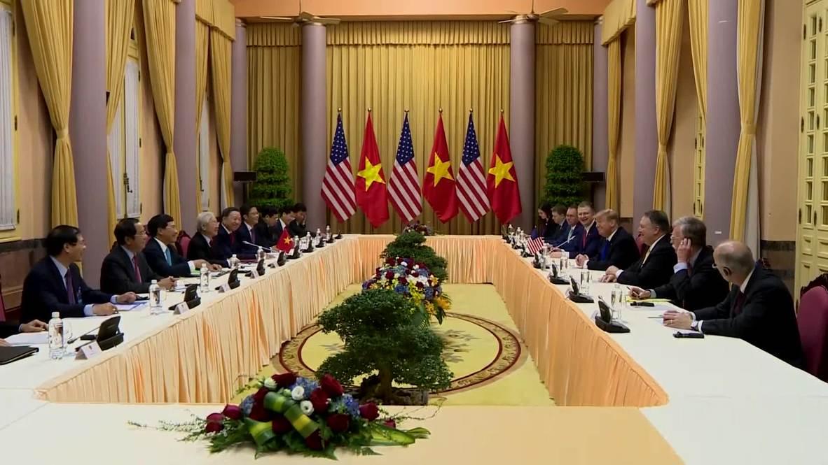 Vietnam: Trump se reúne con el líder de Vietnam