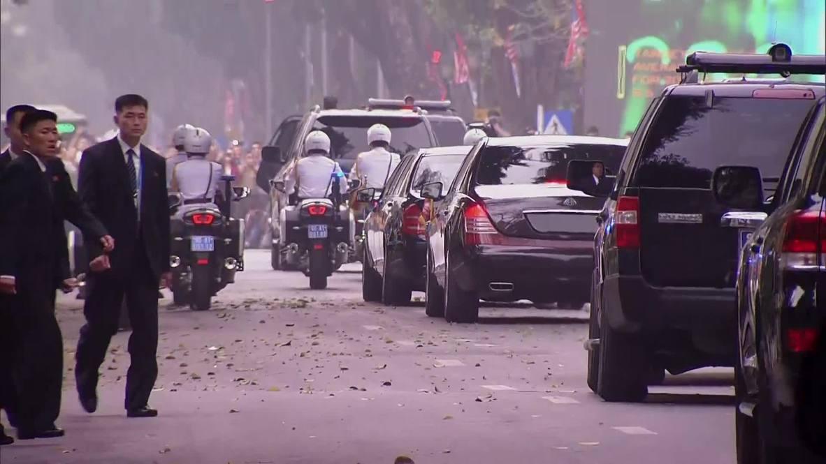 Vietnam: Motorcades ready up after Kim-Trump summit 'cut short'