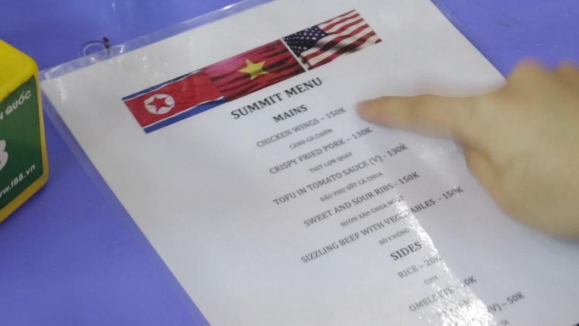 When Donald met Jong-un: Hanoi eatery serves up special summit menu