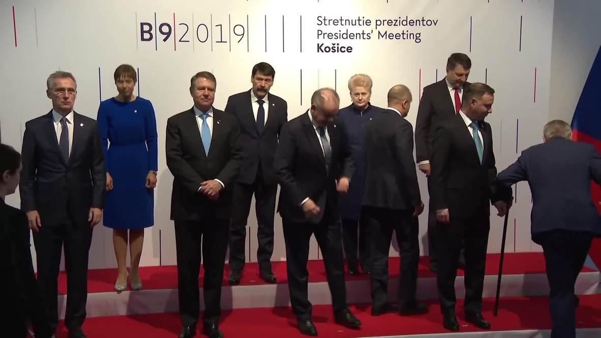 Eslovaquia: Stoltenberg se reúne con los presidentes de Bucarest-9