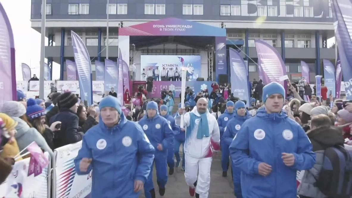 Russia: Final stage of Winter Universiade torch relay kicks off in Krasnoyarsk