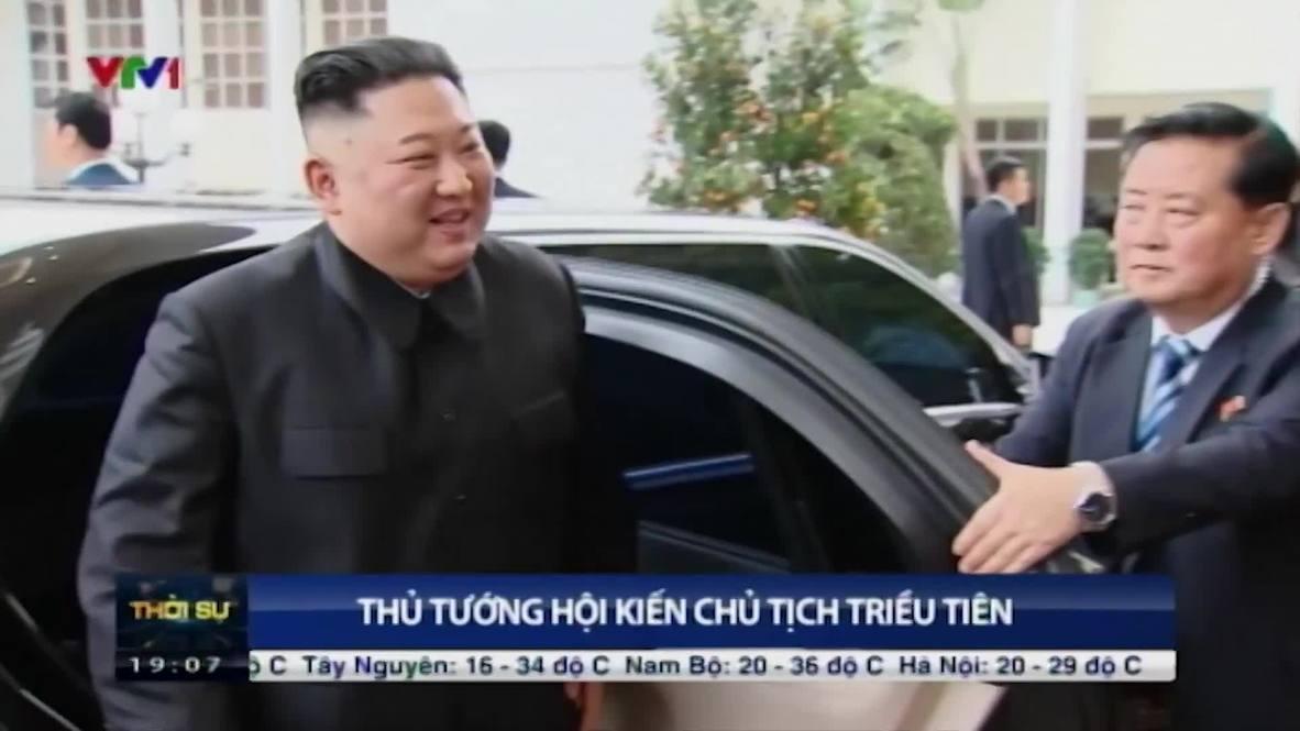 Vietnam: Kim Jong-un meets with Prime Minister Nguyen in Hanoi