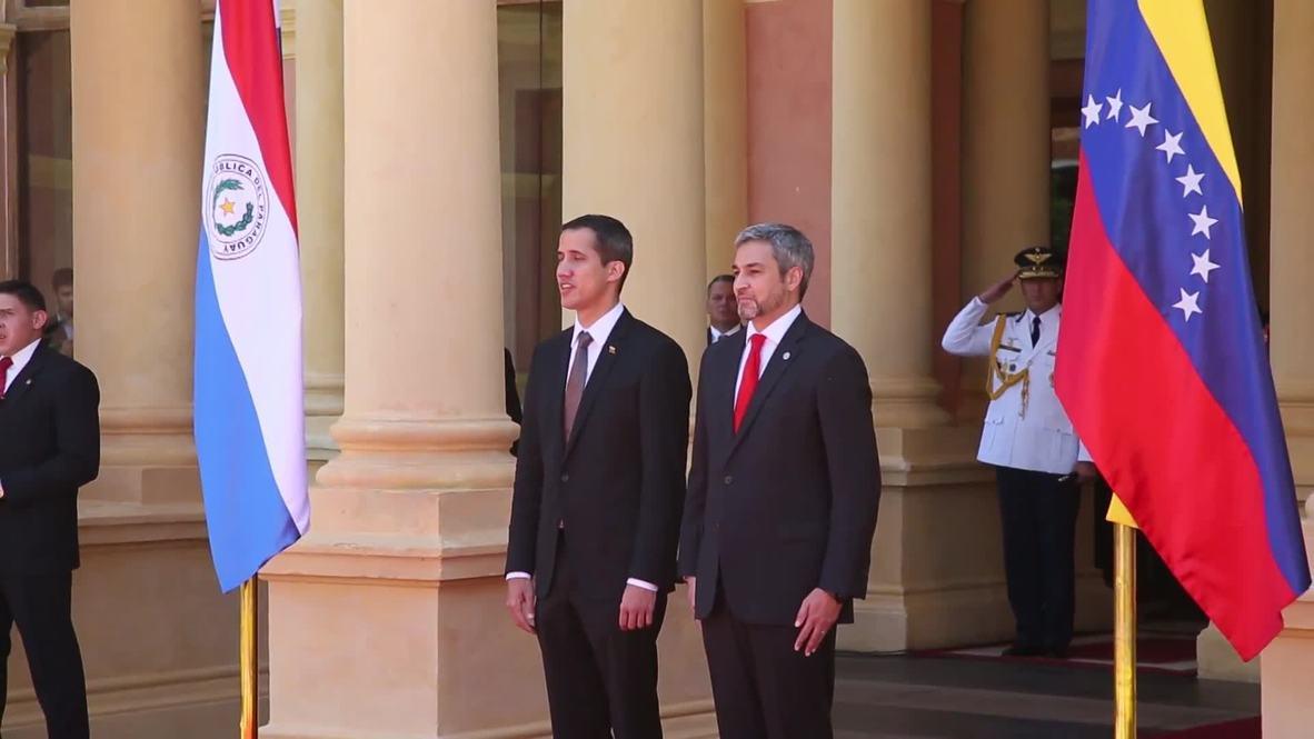 Paraguay: President Abdo Benitez welcomes Guaido in Asuncion