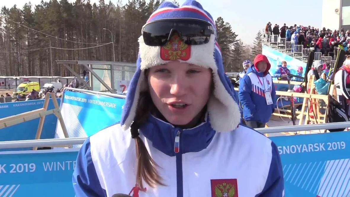 Россия: Российские спортсменки заняли весь пьедестал в биатлонной гонке на Универсиаде-2019