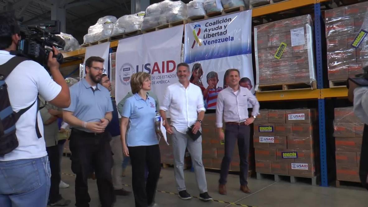 Колумбия: Американская гуманитарная помощь доставлена на границу с Венесуэлой