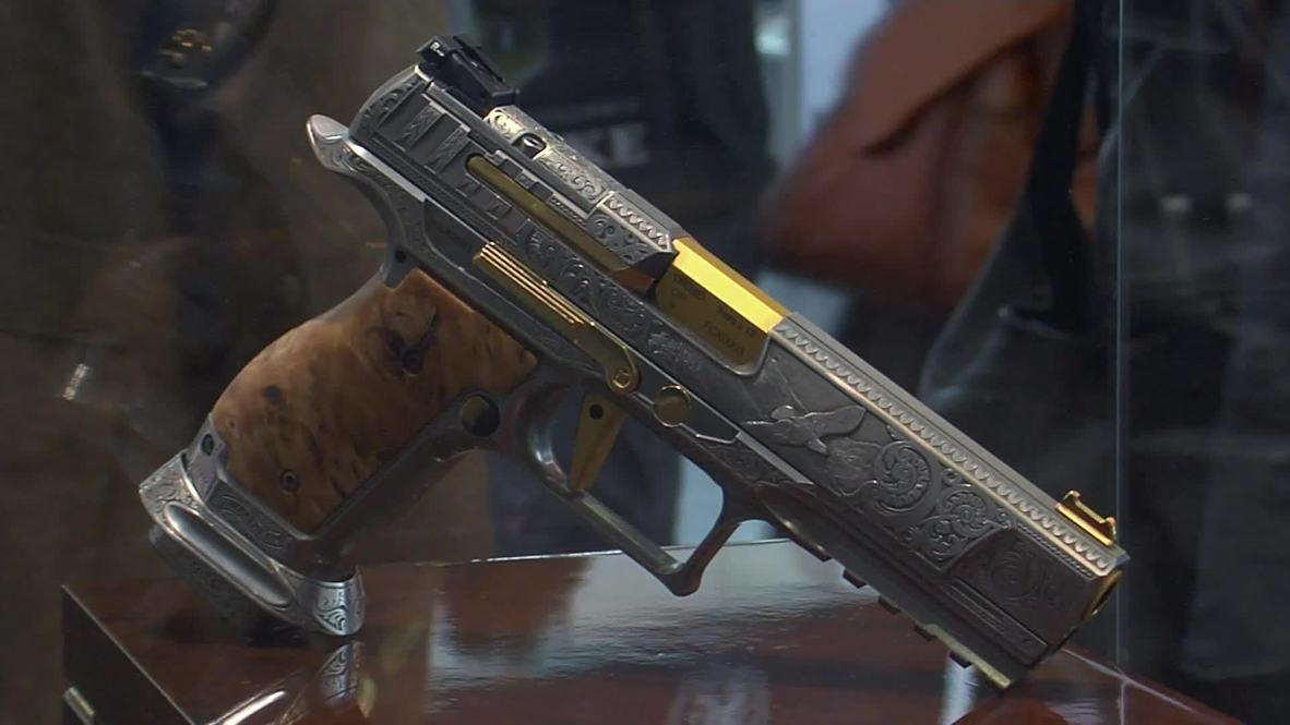German company goes all guns blazin' with $40k golden Americana pistol