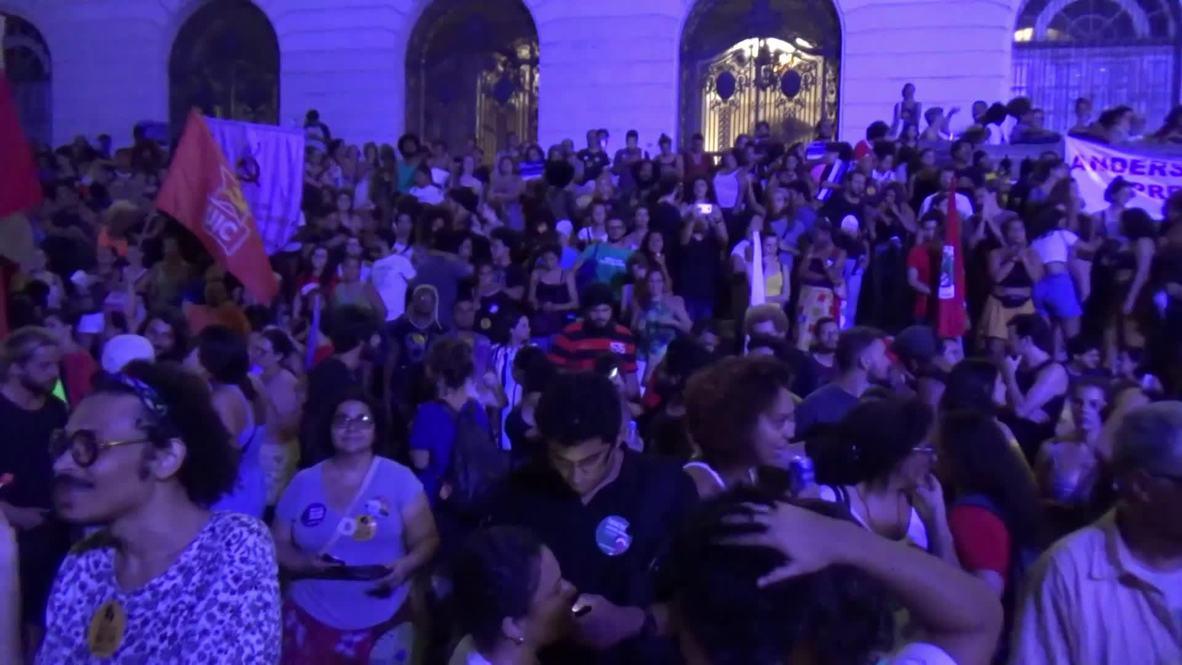 Brasil: Manifestantes conmemoran el aniversario del asesinato de Marielle Franco