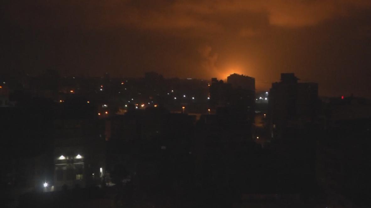 State of Palestine: Israel strike Gaza after rocket attack on Tel Aviv