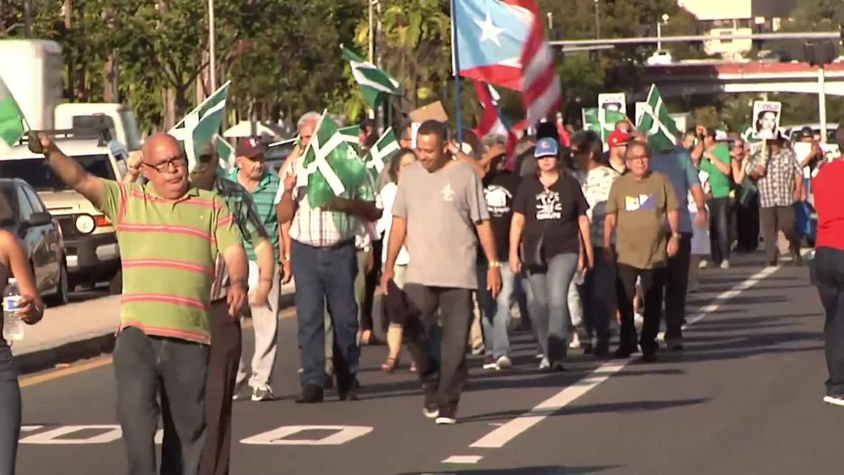 Puerto Rico: Pro-independence protest held as US delegation visits San Juan