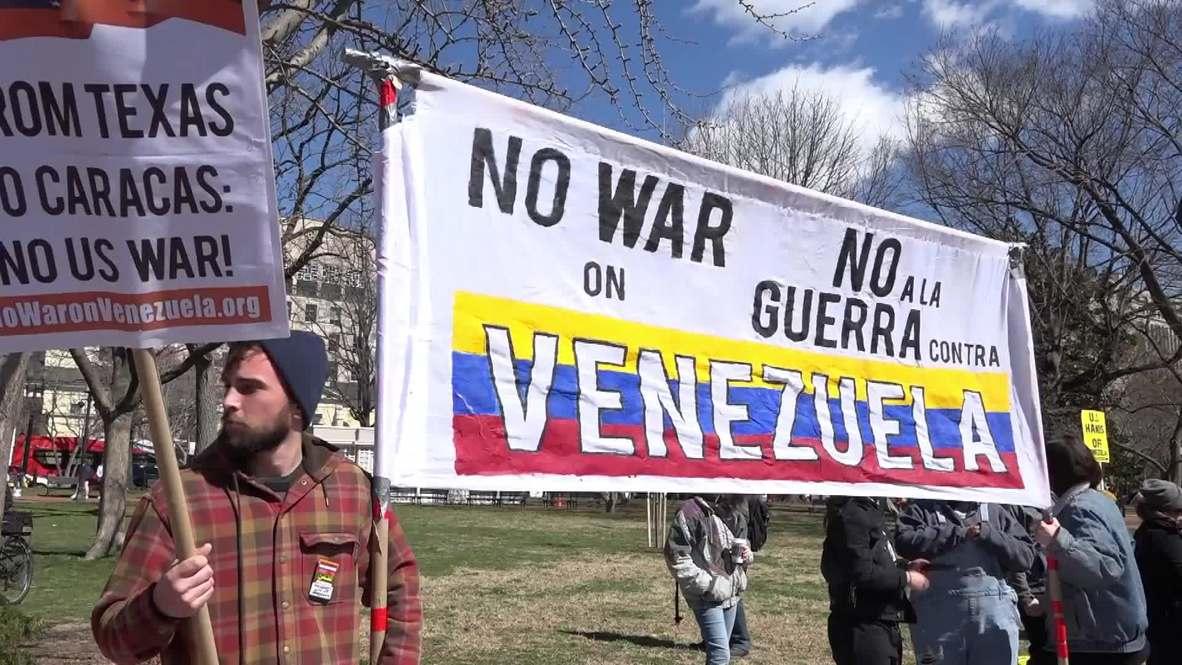 USA: DC protesters demand White House keeps its hands off Venezuela