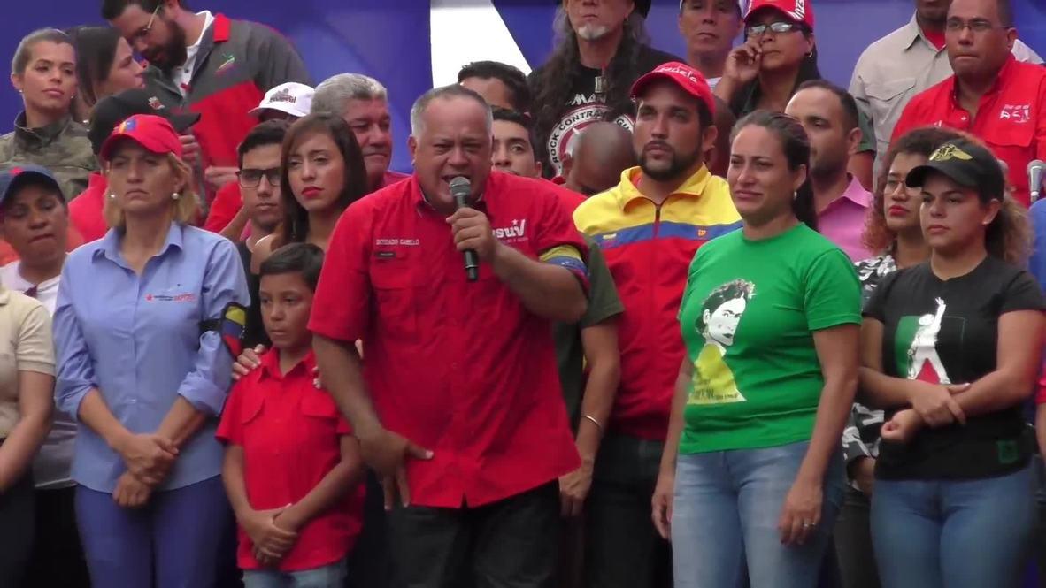 Venezuela: Partidarios del gobierno marchan en Caracas