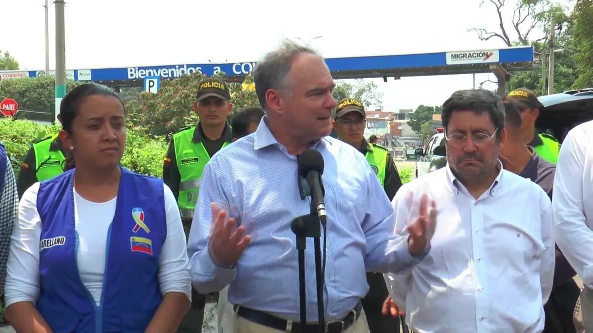 Colombia: US senator backs Guaido on Venezuela border visit