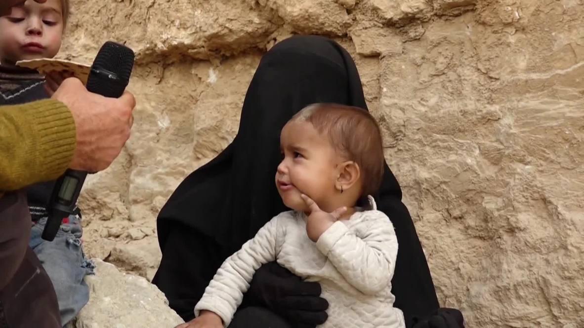 Siria: Esposas de militantes del EI abandonan Baghouz tras la ofensiva de las SDF
