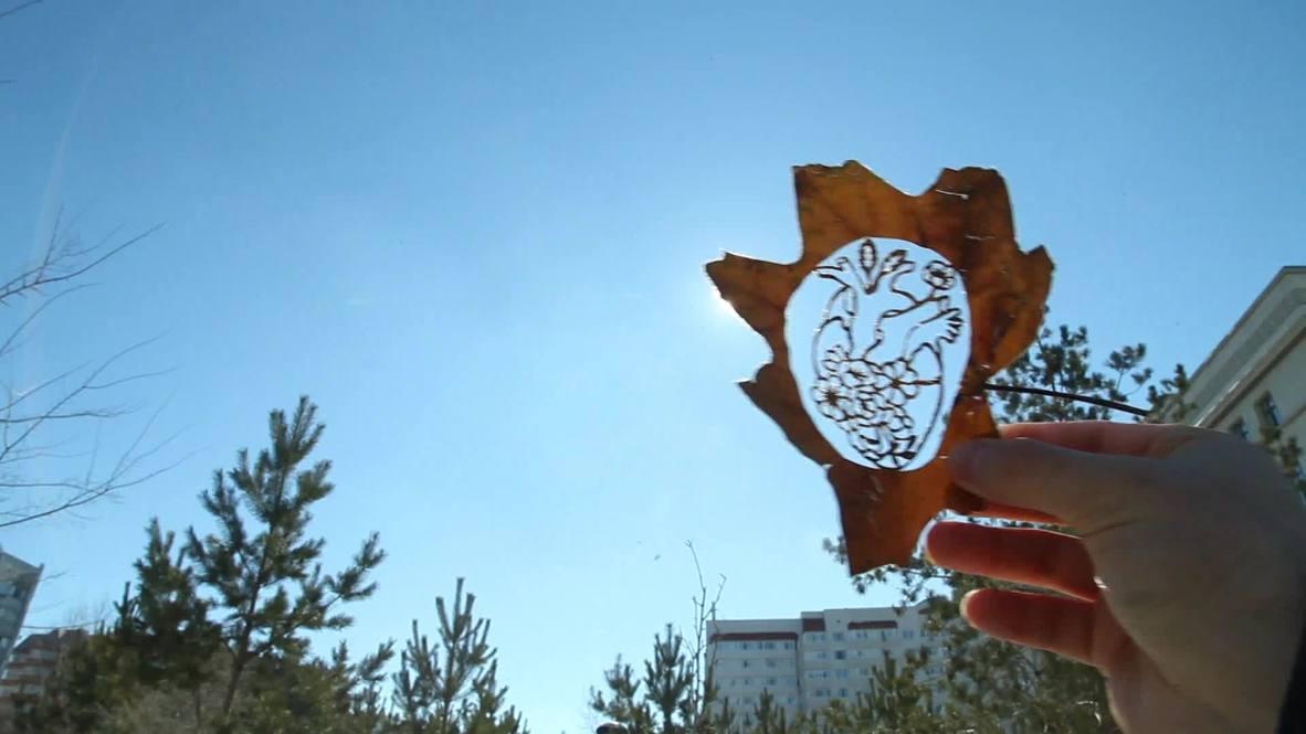 Be-leaf in yourself! Kazakh artist turns fallen leaves into art