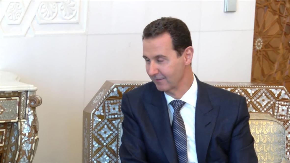 Сирия: Шойгу и Асад обсудили ситуацию в Дамаске