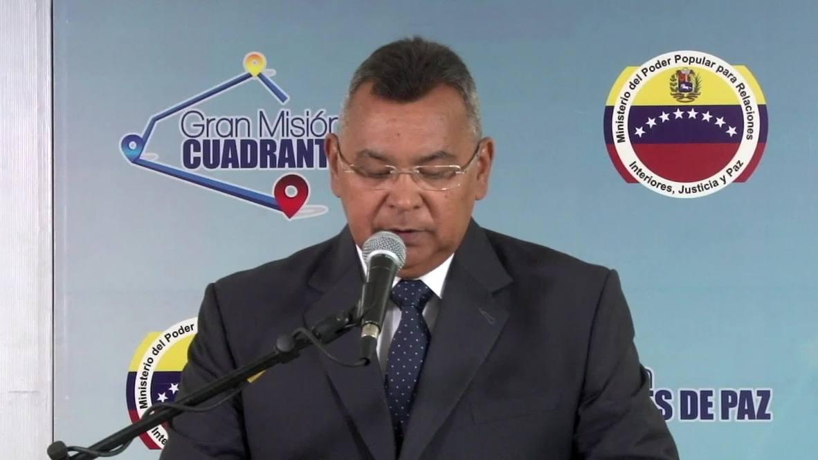 Venezuela: Dos hombres detenidos acusados de planear atentados - Ministro de Interior