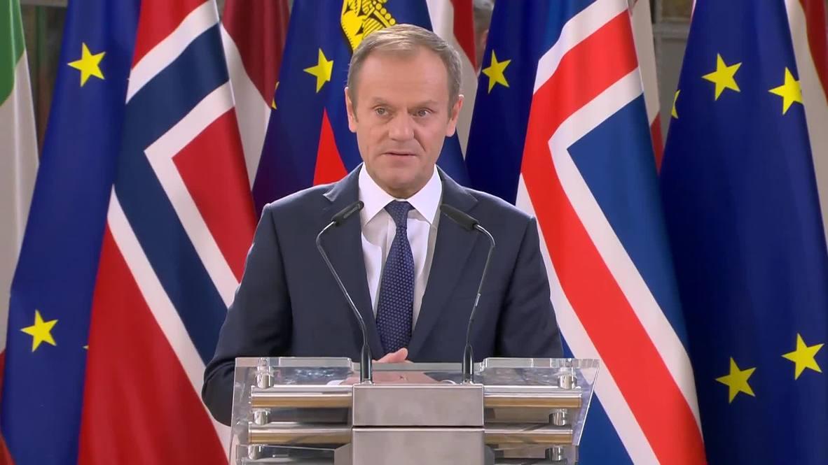 Belgium: May notably absent as EU leaders celebrate 25 years of EEA