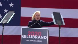 USA: Democratic hopeful Gillibrand rails against president at Trump Tower