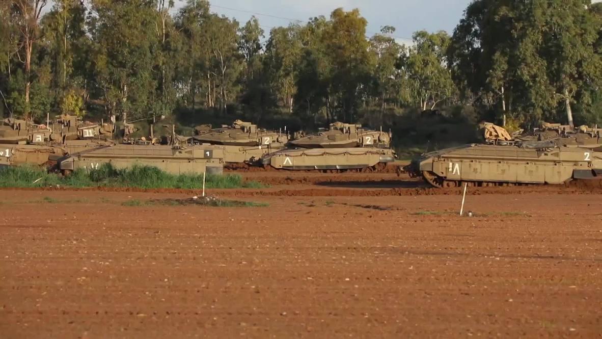 Israel: Las IDF envían tanques a la frontera de Gaza tras el intercambio de misiles con Hamás