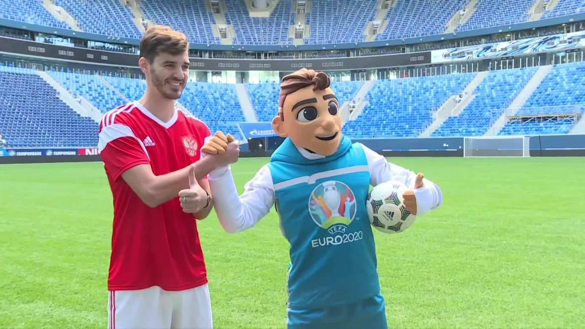 Rusia: Presentan la mascota de la Eurocopa 2020 en San Petersburgo