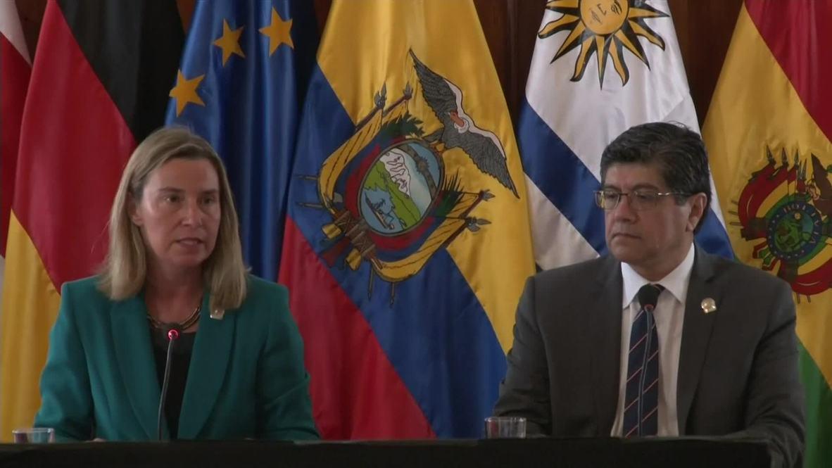 Ecuador: Mogherini lauds Latin American countries for hosting Venezuelan refugees