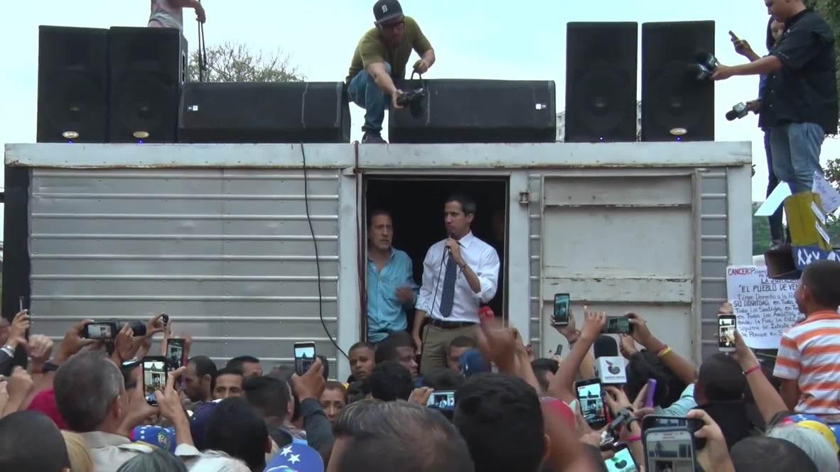 """Venezuela: Guaidó insta a sus partidarios a movilizarse """"uno por uno"""" contra el gobierno"""