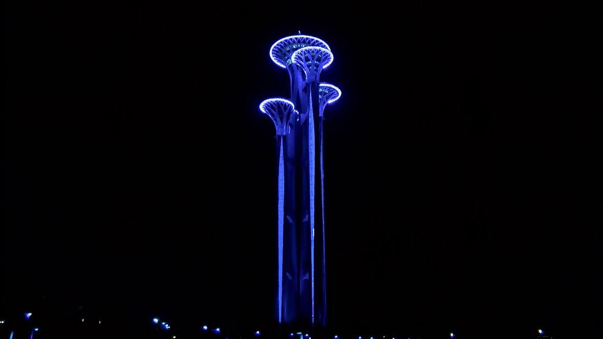 """Китай: Олимпийская башня в Пекине осталась без света на """"Час Земли"""""""