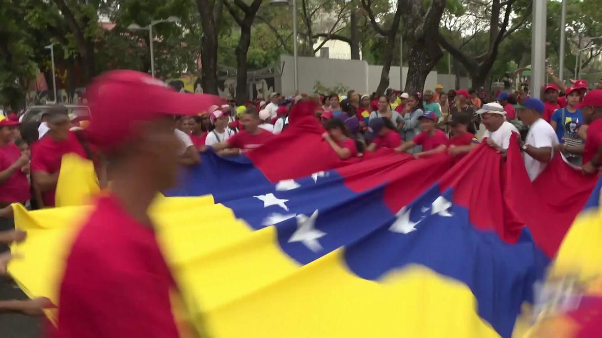 Venezuela: Miles de personas muestran su apoyo a Nicolás Maduro en Caracas
