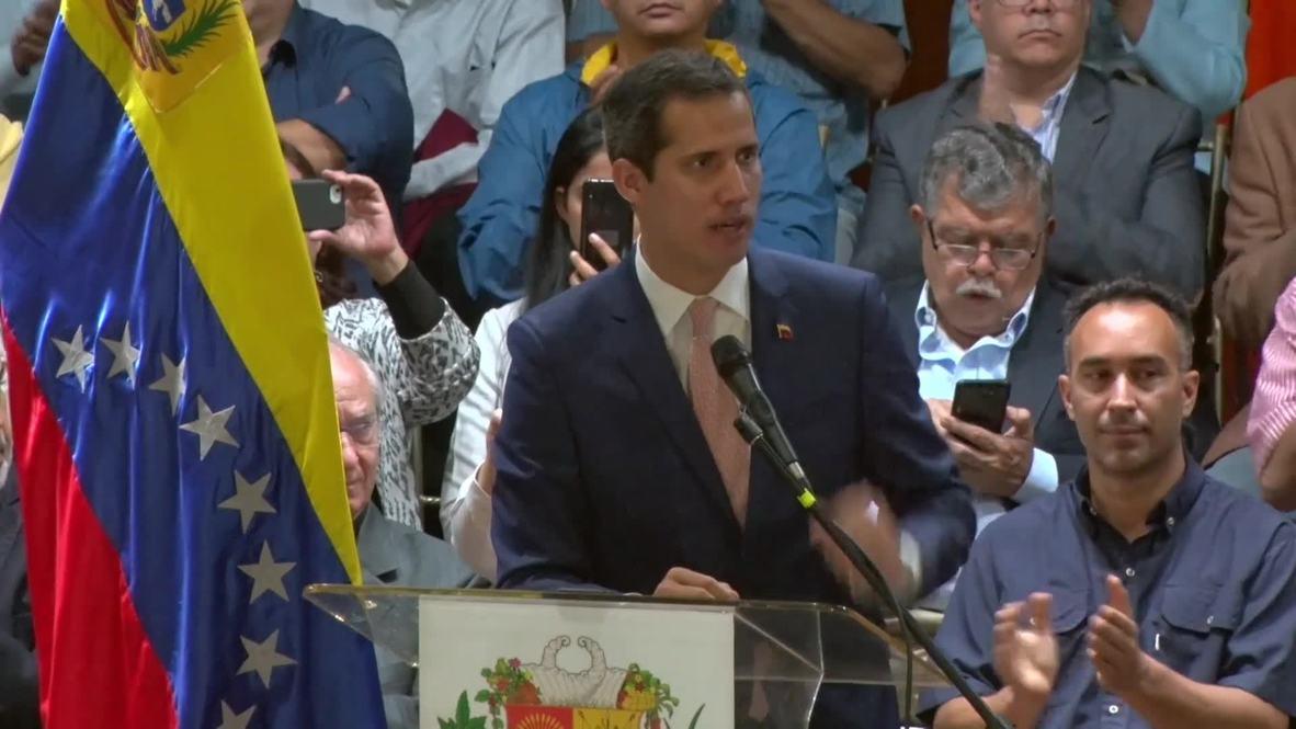 """Venezuela: Guaidó insta a la oposición a sumarse a la """"Operación Libertad"""""""
