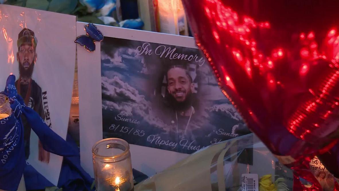 USA: Hundreds gather to mourn slain rapper Nipsey Hussle in LA
