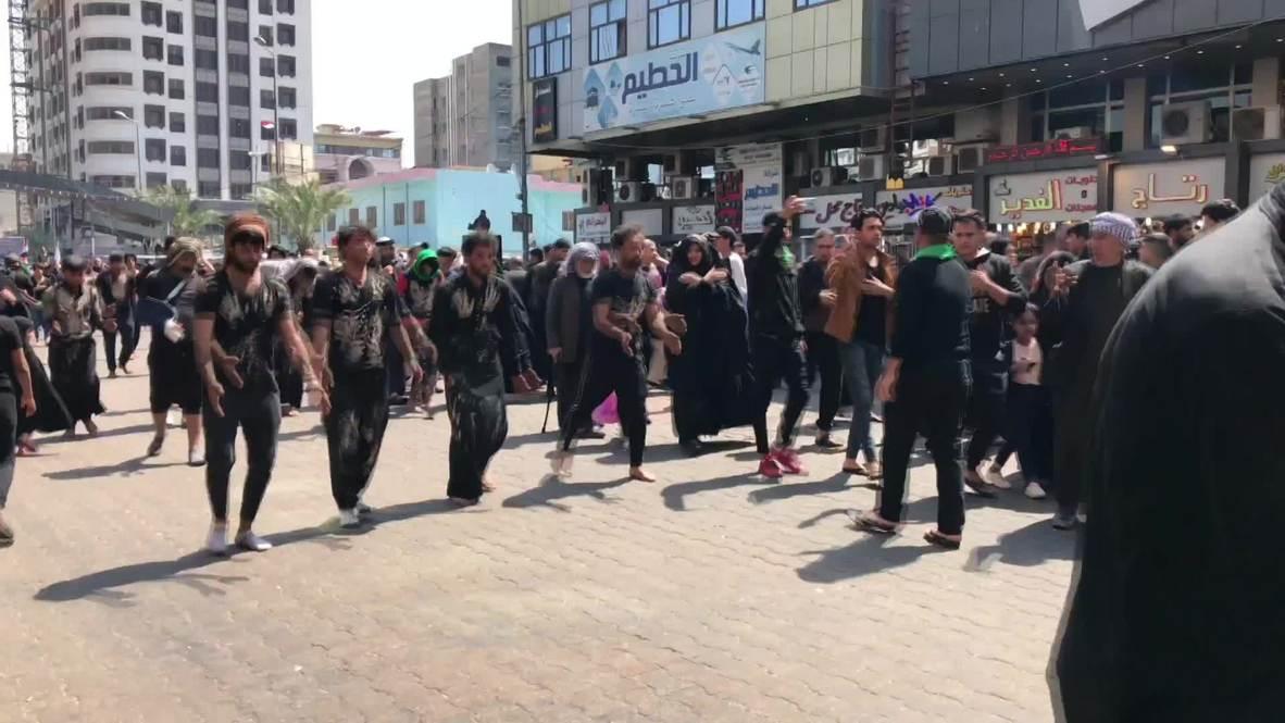 Iraq: Thousands of Shiites commemorate death of Imam Musa al-Kadhim in Baghdad