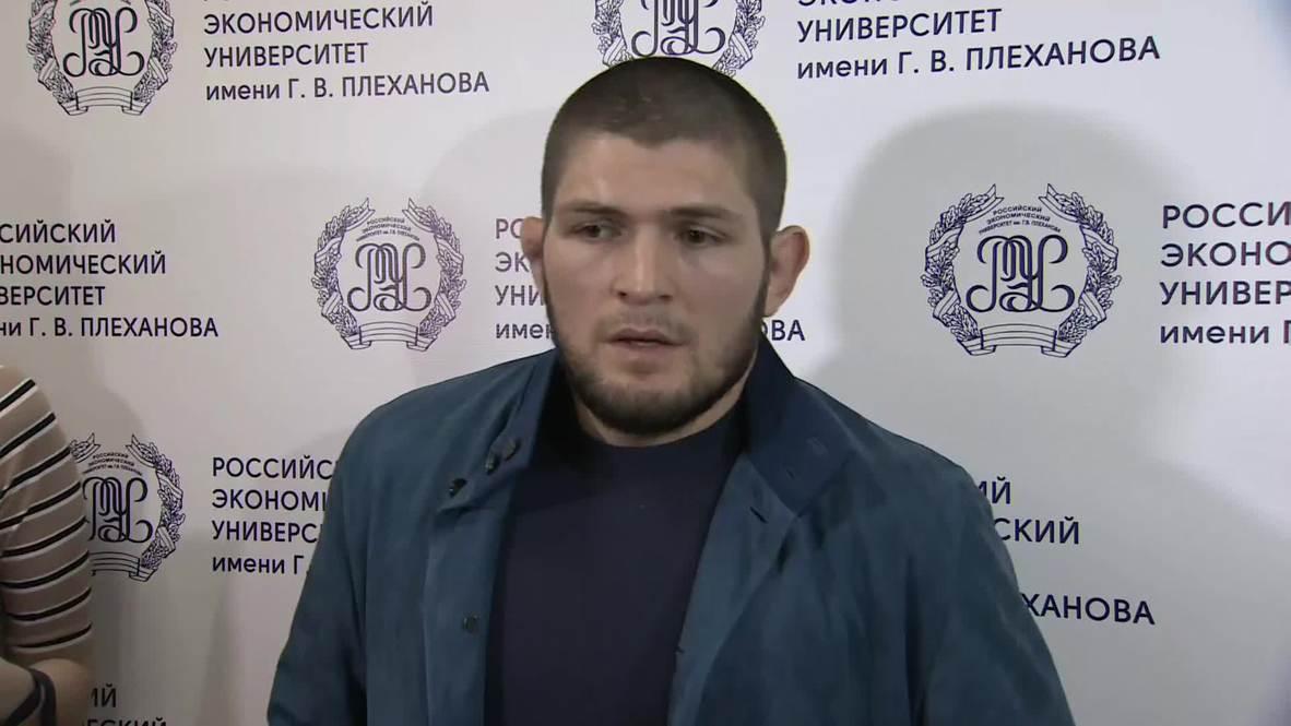 Россия: Следующий бой Хабиб может провести в Абу-Даби