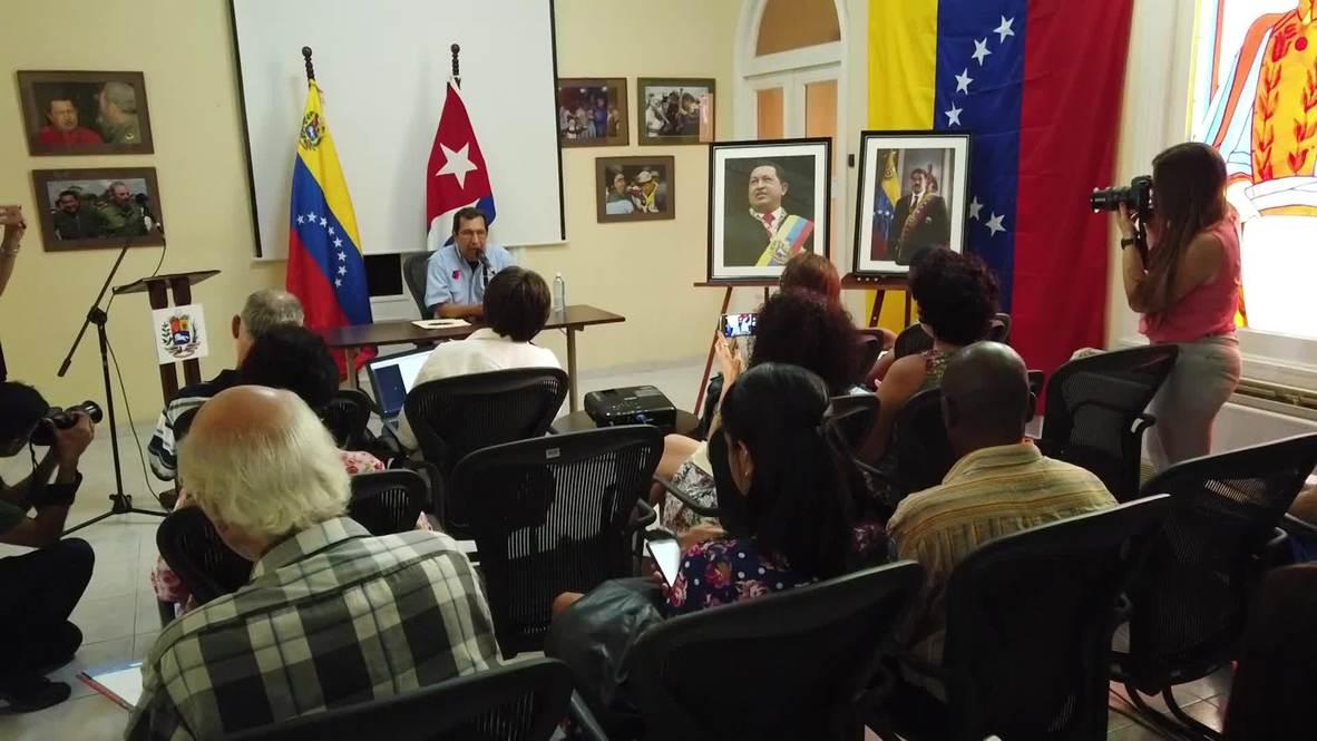 """Cuba: Estados Unidos podría """"hacer desaparecer a Guaidó"""" y culpar al Gobierno venezolano - Adán Chávez"""